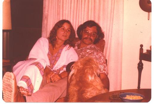 Don & Linda (and Linda's dog Pogo), in June 1977, at their engagement party