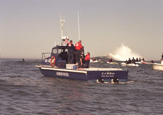 Pillar Point harbor 32' Radon Patrol Boat