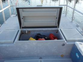 Storage hold which converts to a hot tub – above and below