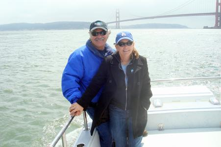On Bob Costarella's boat in the San Francisco Bay