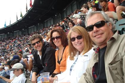 From left: Bob and Antoinette Costarella, Leona & Chris Monk