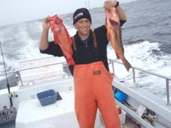 Joe Costarella with rock fish