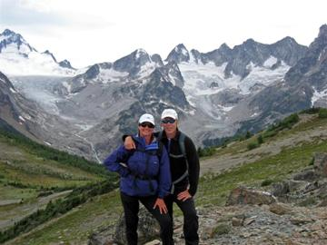 Tom and Susie Lang in the Bugaboo Mountains