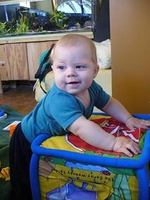 Oliver is now 6 month's old! The photo below shows how much he has grown