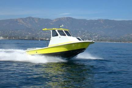 First sea trial in Santa Barbara