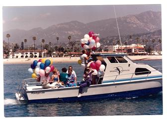 1986 – The Brooks Institute 26' Radon launching party