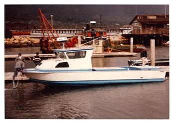 1982- a 32' Radon dive boat