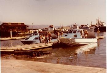 October, 1979 – on the left is a new Radon 26' x 8' and on the right is a new 27' x 9'