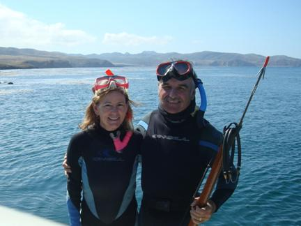 We did a little snorkeling in Forney's Cove on Santa Cruz Island