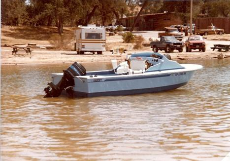 Mid '80's – our 17' at Nacimiento Lake