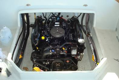 Ron's new 22' has a 300 HP Mercruiser engine…
