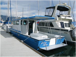 Project complete! In a slip at the Santa Barbara Harbor!