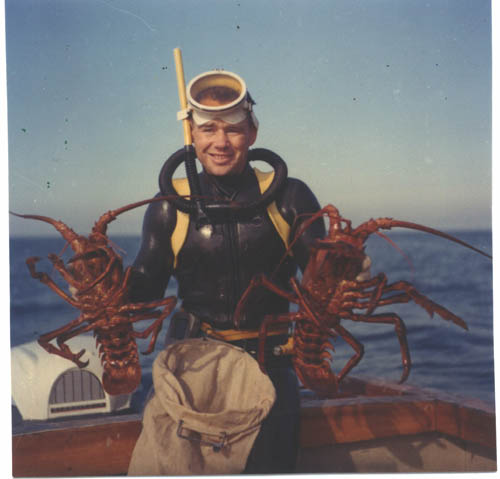 Ron Radon Sr. with Lobsters